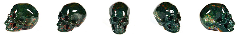 green bloodstone skulls