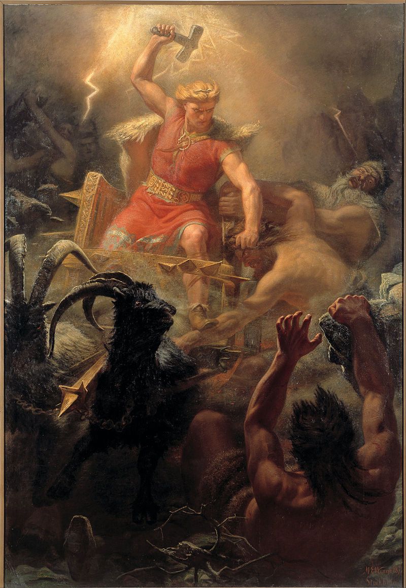 Thor's Battle Against the Jötnar (1872) by Mårten Eskil Winge