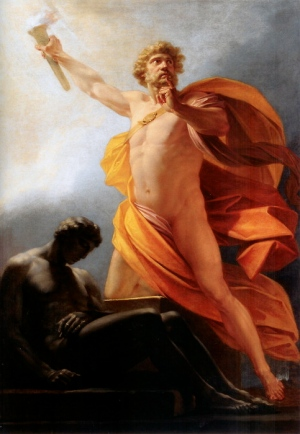 """Prometheus Brings Fire to Mankind,"" Heinrich Fueger, 1817 (img courtesy Wikipedia</a>)"