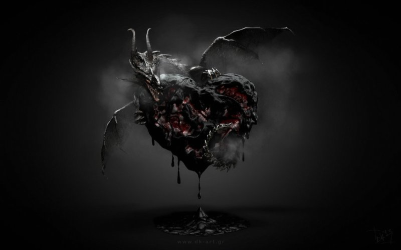 """Black Heart"" by Dimitris Koumentakakos (dk-art.gr)"