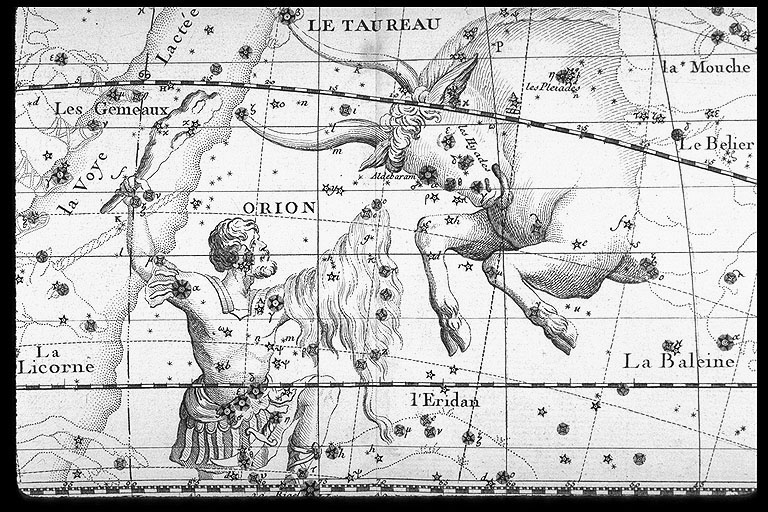 Orion & Taurus Flamsteed, John. Atlas celeste. Ed. J. Fortin. Paris, 1776. J. Fortin was an engraver and globe maker who greatly improved on the aesthetic qualities of atlas of John Flamstead (1646--1719), the first Astronomer Royal and Greenwich Observatory astronomer