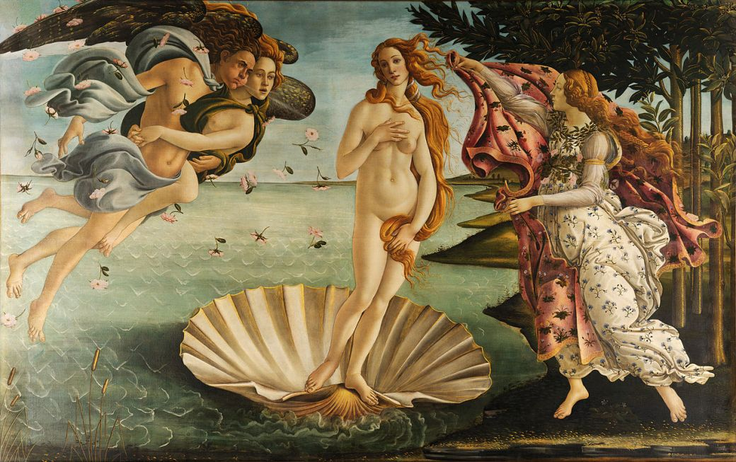 Sandro Botticelli, The Birth of Venus (c. 1486)