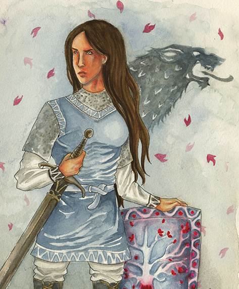 7a188087796a Lyanna Stark  The Knight of the Laughing Tree by SephyStabbity on DeviantArt